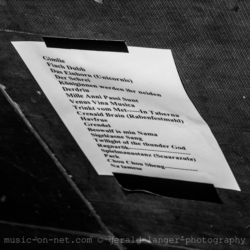 Setlist - Corvus Corax - Posthalle Wuerzburg 2013