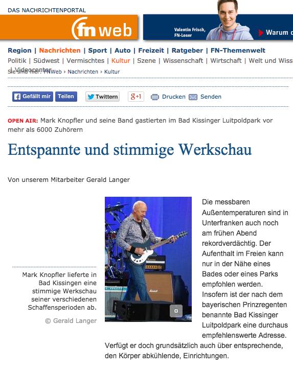 Linkk zum Konzertbericht über das Konzert von Mark Knopfler in Bad Kissingen am 4. Juli 2015