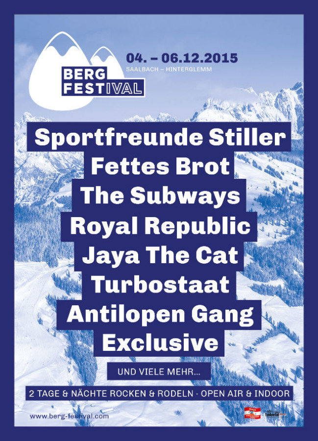 bergfestival 2015 - programm