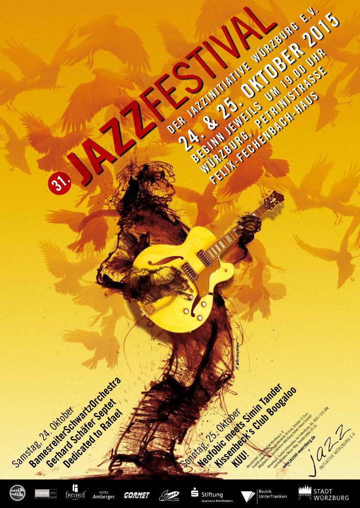 Plakat zum 31. Jazzfestival von Markus Westendorf