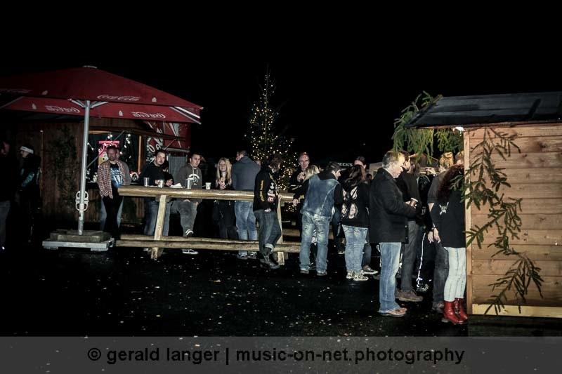 Der Weihnachtsmarkt beim Christmas Bash