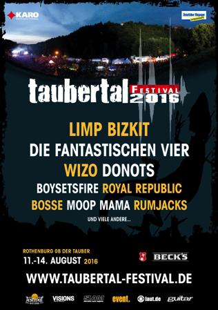 Taubertal-Festival 2016 - Plakat