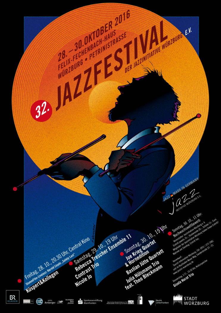 32. Jazzfestival Würzburg 2016 - Flyer