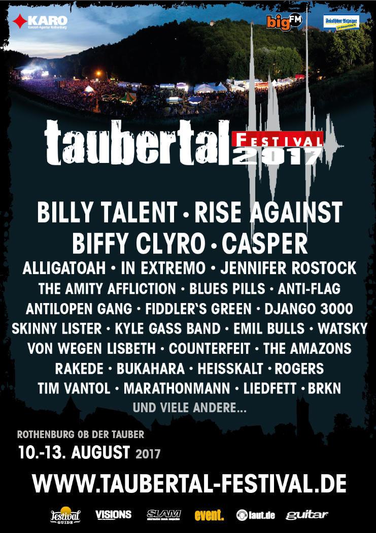 Taubertal-Festival 2017 - Plakat © Karo