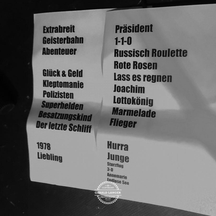 Setlist - Extrabreit - Stattbahnhof Schweinfurt - 26/04/2018