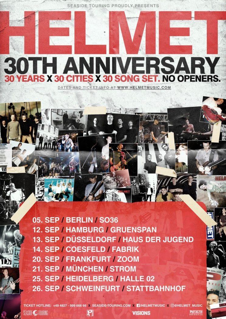 Helmet - 30th Anniversary - Plakat