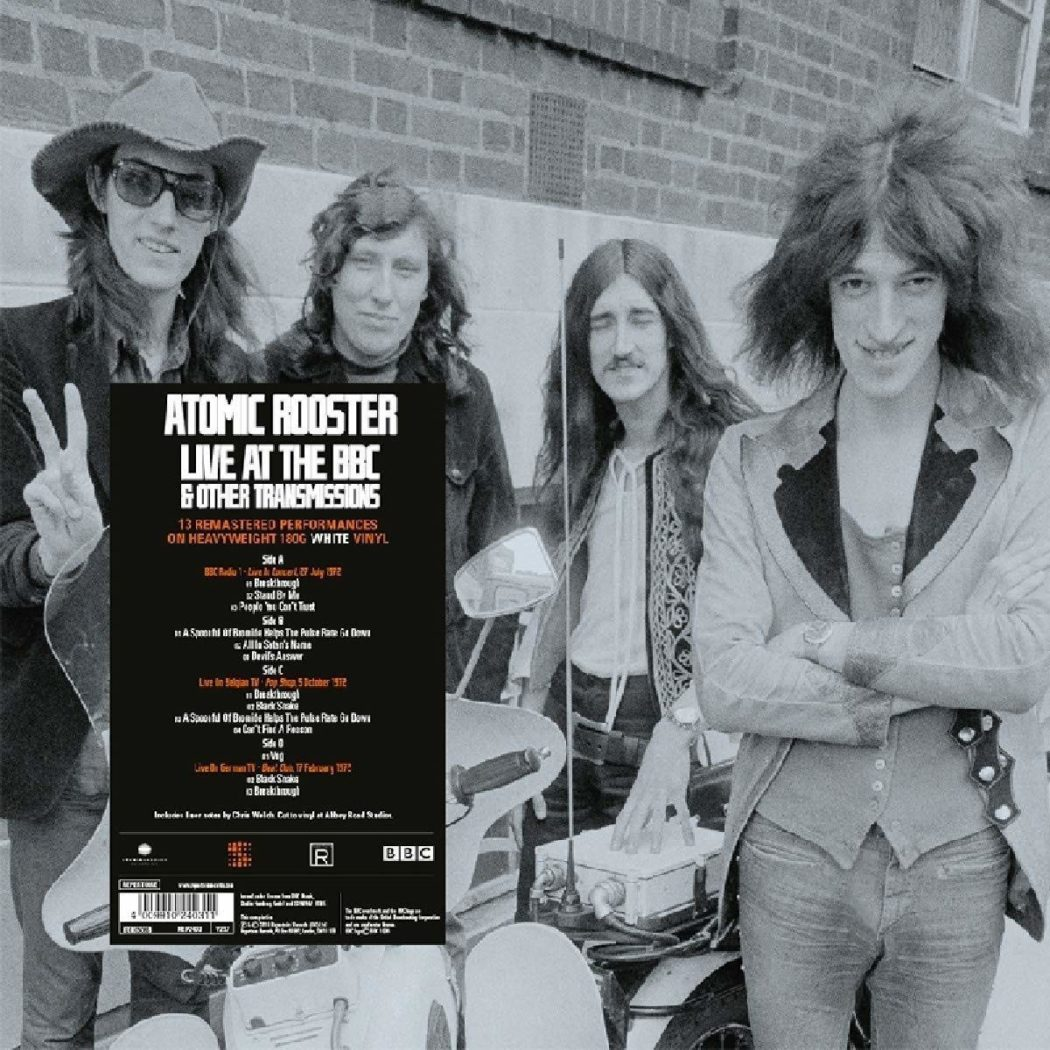 ATOMIC ROOSTER - LIVE AT THE BBC & OTHER TRANSMISSIONS_WHITE VINYL_ALBUM COVER